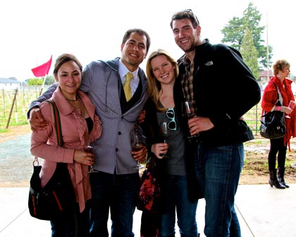 Friends and lovers at m2 winery…