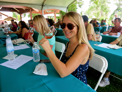 Cool blonde bolstering wine smarts at ZinFest Wine School