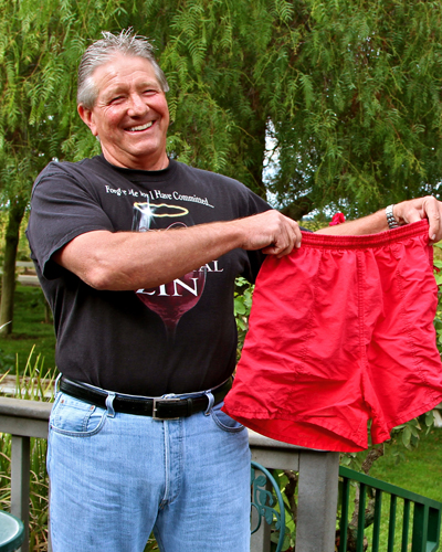Peirano's Lance Randolph's famous red shorts