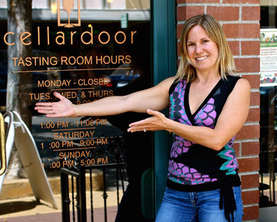 Jillian Johnson DeLeon at Lodi cellardoor, where her Onesta Wines can be tasted and purchased
