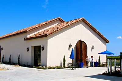Phase 1 of Stama Winery's Mediterranean inspired winery, where a temporary tasting room has just opened