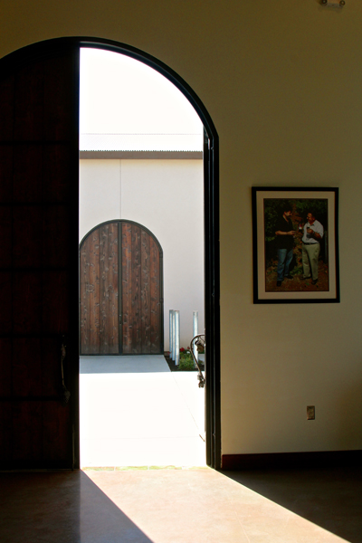 12-ft. doorways of the first two of three buildings planned for Stama winery