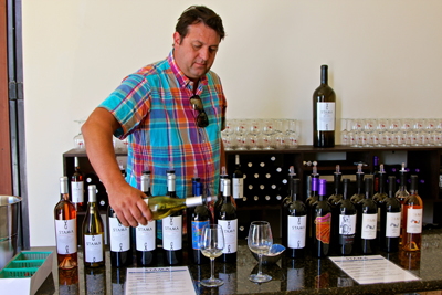 Stama Winery's French trained winemaker, Franck Lambert