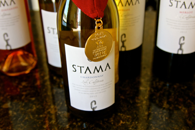 Stama Winery's award winning Chardonnay