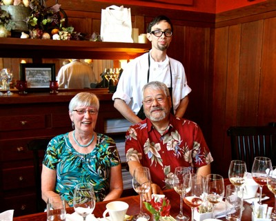 Taste Chef David Fujimura with his parents Jean and Bob Fujimura