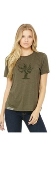 Old Vine Woman's T-Shirt - Olive Green